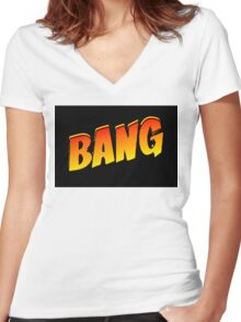 Cartoon Bang by Chillee Wilson Women's Fitted V-Neck T-Shirt