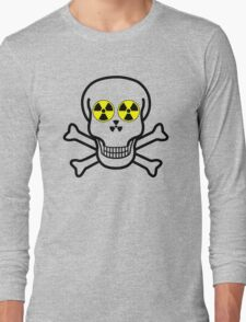 NUCLEAR FALL-OUT SKULL & CROSSBONES by Chillee Wilson Long Sleeve T-Shirt
