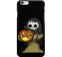 Creepy Girl with Pumpkin iPhone Case/Skin