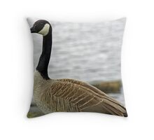Great pose for a goose Throw Pillow