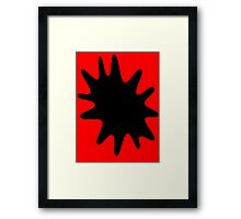 Ink Spatter by Chillee Wilson Framed Print