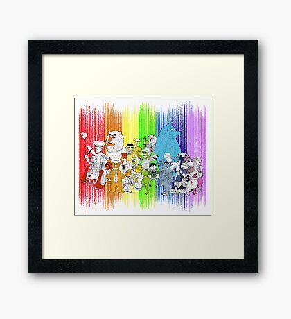 The Rainbow Connection Framed Print