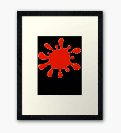 Blood Spatter by Chillee Wilson Framed Print
