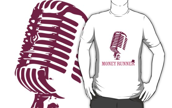 Moneyrunner - Mic T-shirt by Stephen Wildish