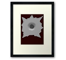 Bullet Hole 5 by Chillee Wilson Framed Print