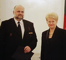 Me & President of Lithuania in March 11 - independence day by Antanas