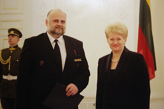 Me &amp; President of Lithuania in March 11 - independence day by Antanas
