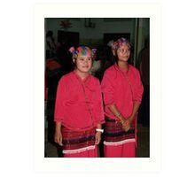 Shan girl dancers Art Print