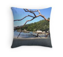 Bark Bay Beach, Abel Tasman National Park Throw Pillow