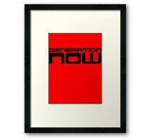 Generation Now by Chillee Wilson Framed Print
