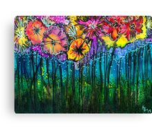 Flowers That Only  Fireflies See Canvas Print