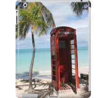 Red public Telephone Booth on Antigua iPad Case/Skin