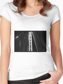 Golden Gate Blur Women's Fitted Scoop T-Shirt