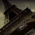 Vintage romantic Eiffel Tower by Jodi Fleming