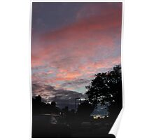 Candy floss clouds Poster