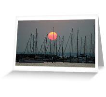 St Kilda Marina Sunset Greeting Card