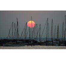 St Kilda Marina Sunset Photographic Print