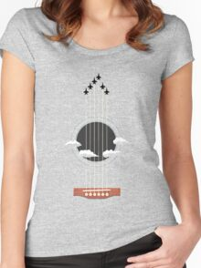Sky Guitar Women's Fitted Scoop T-Shirt