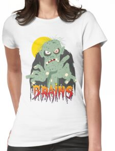 Zombie BRAINS Womens Fitted T-Shirt