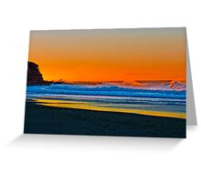 Sunrise at Garie Beach - Sydney Royal National Park, NSW, Australia Greeting Card