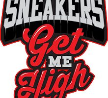 Sneakers Get Me High Bred by tee4daily