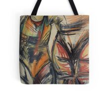 Abstract chalk art, twins Tote Bag