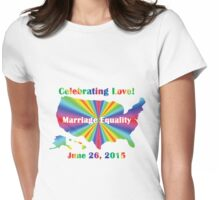 Celebrating Love Womens Fitted T-Shirt