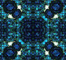 Blue Orb - petal constellation by Pseudopompous68