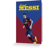 Lionel Messi Greeting Card