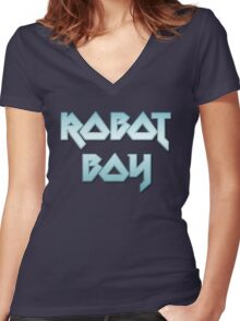 ROBOT BOY by Chillee Wilson Women's Fitted V-Neck T-Shirt