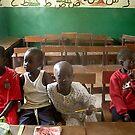 Gambian school kids by elisabeth tainsh