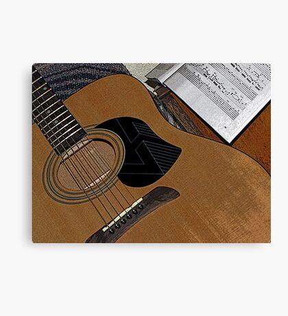 The Guitar Canvas Print