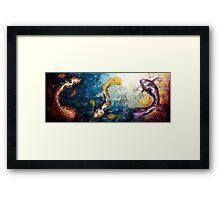 Swimming in the Light Framed Print