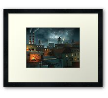 Zone Industrielle - Night Framed Print