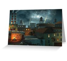 Zone Industrielle - Night Greeting Card
