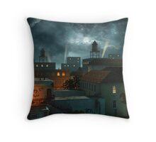 Zone Industrielle - Night Throw Pillow