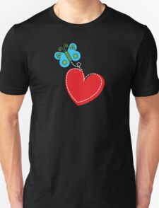 Valentine Butterfly [Dark Background] T-Shirt