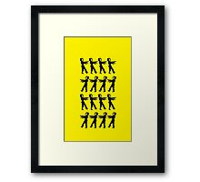 March of the Zombie TV Guys by Chillee Wilson Framed Print