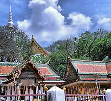 Thai Temple by Rainy