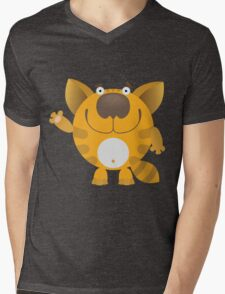 """Hello"" kitten Mens V-Neck T-Shirt"