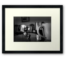 the morning routine  Framed Print