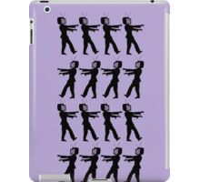 March of the Zombie TV Guys by Chillee Wilson iPad Case/Skin