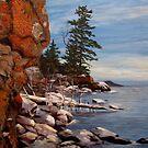 Shoreline near Thunder Bay Ontario Canada  by loralea