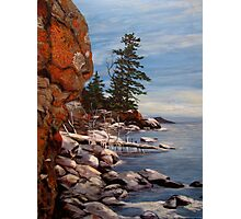 Shoreline near Thunder Bay Ontario Canada  Photographic Print