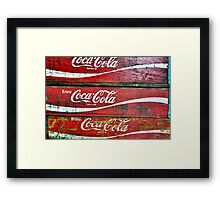 Red Wooden Crates Framed Print