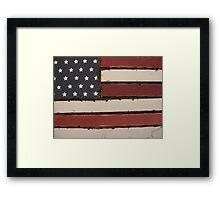 Flag Lines Framed Print