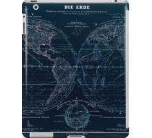 Atlas zu Alex V Humbolt's Cosmos 1851 0143 Die Erde The Earth Inverted iPad Case/Skin