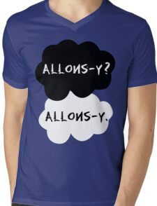 allons-y? allons-y. Mens V-Neck T-Shirt