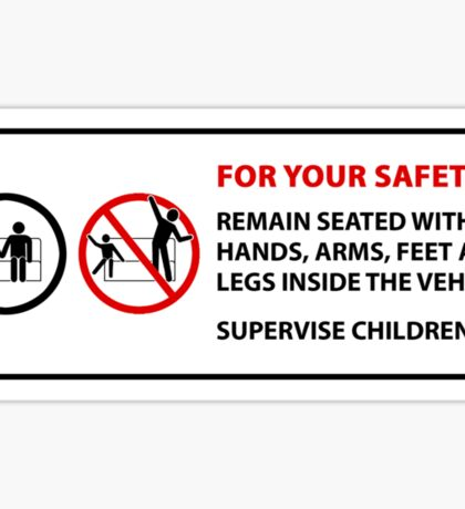 For Your Safety - No Dancing Warning  Sticker