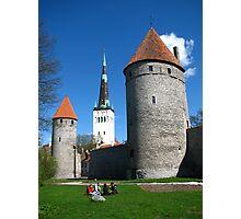 Tallinn City Walls and St Olav's Photographic Print